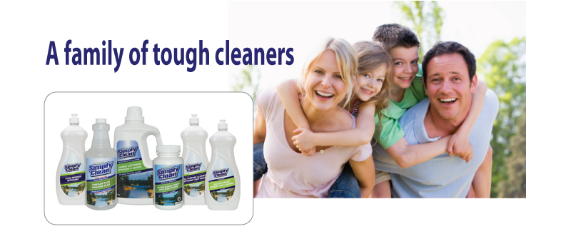 Simply Clean - a family of tough cleaners